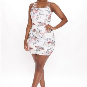 NEW Small floral dress - white combo